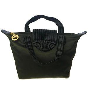 Vtg Longchamp Paris Sateen Tote Handle Bag